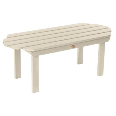Classic Westport Whitewash Rectangular Recycled Plastic Outdoor Coffee Table