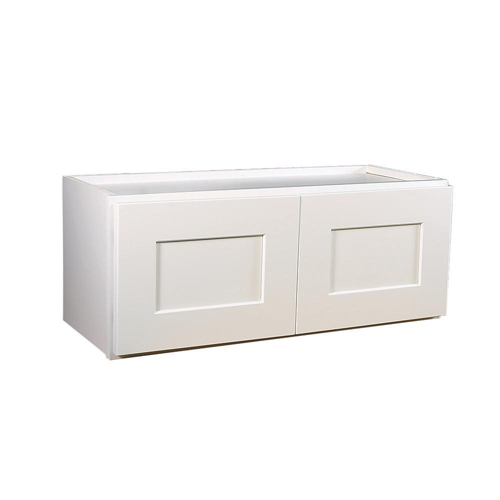 Brookings Fully Assembled 33x18x12 in. Shaker Style Kitchen Bridge Wall Cabinet
