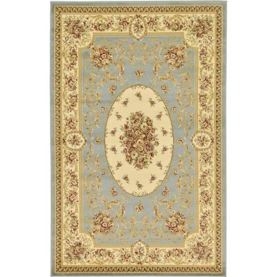 Versailles Phillipe Light Blue 5' 0 x 8' 0 Area Rug