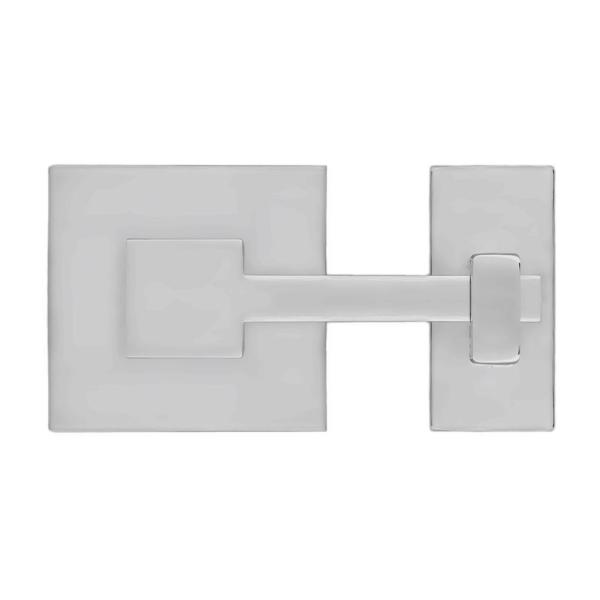 Rhombus 1 in. Polished Nickel Square Latch