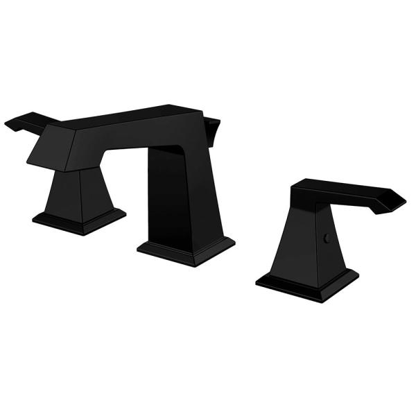 Single Hole Single-Handle Bathroom Faucet with Deck Mount in Matte Black