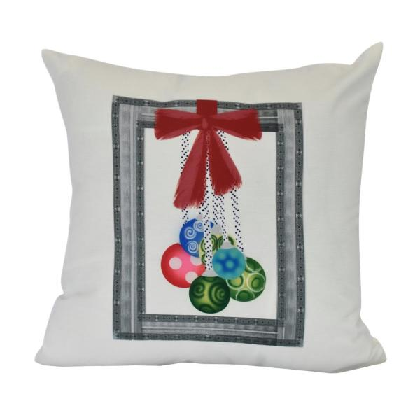 18 in. Frame It Up Geometric Print Decorative Pillow PHG959GY1-18