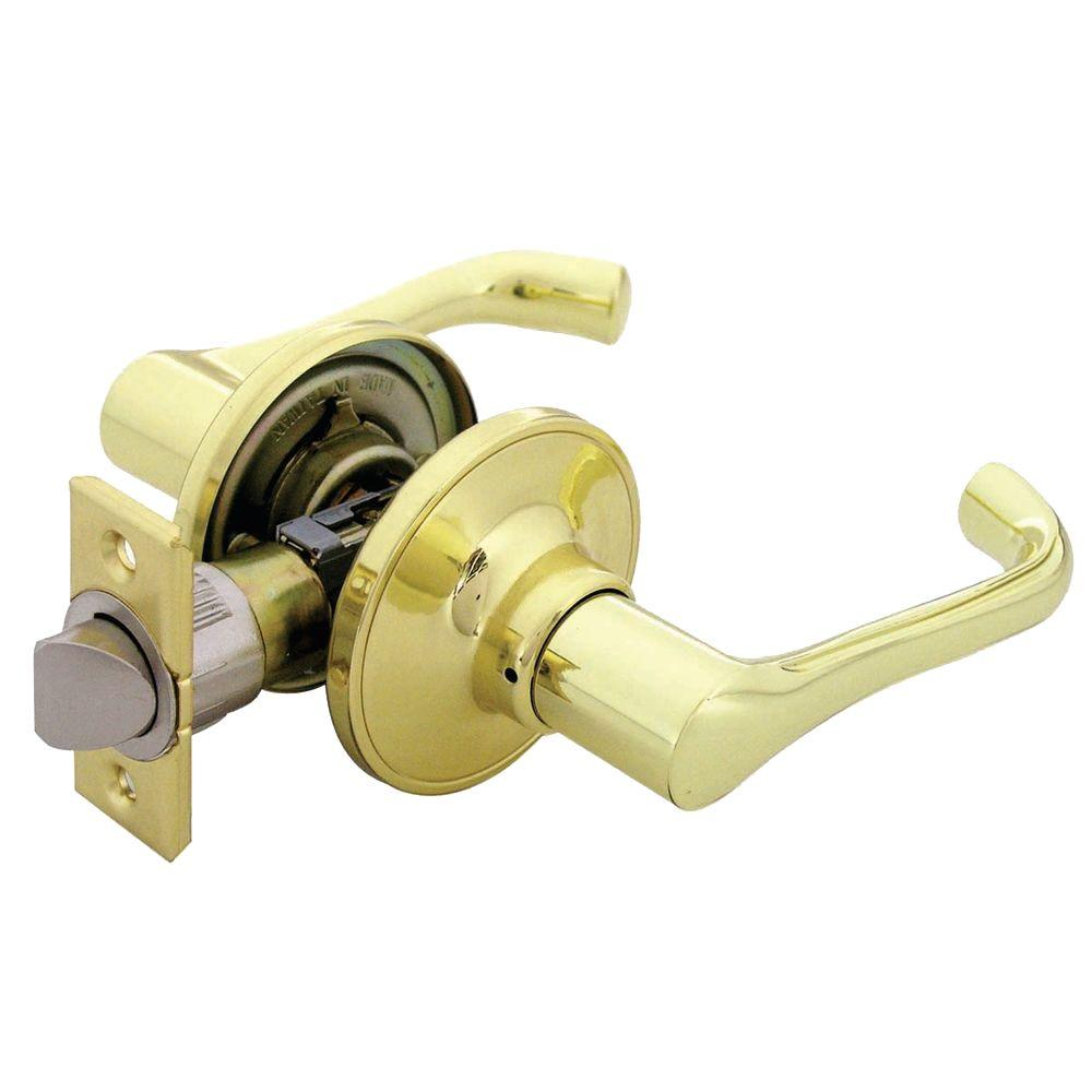 Defiant Milano Polished Brass Passage Lever