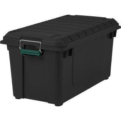 82 Qt. Remington Weather Tight Store-It-All Storage Bin in Black