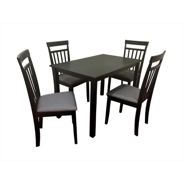 Us Pride Furniture Raymond Wood 5 Piece Dining Table Chair Set Dt1123 The Home Depot