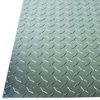 36 in. x 36 in. x 0.025 in. Diamond Tread Aluminum Sheet in Silver
