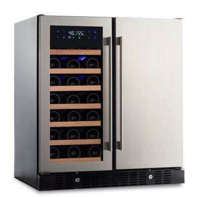 35-Bottle/90-Can 30.25 in. Wine and Beverage Celler