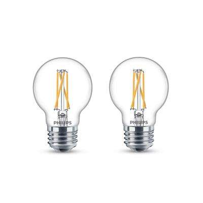 60-Watt Equivalent G16.5 Dimmable with Warm Glow Dimming Effect Globe LED Light Bulb Soft White (2-Pack)