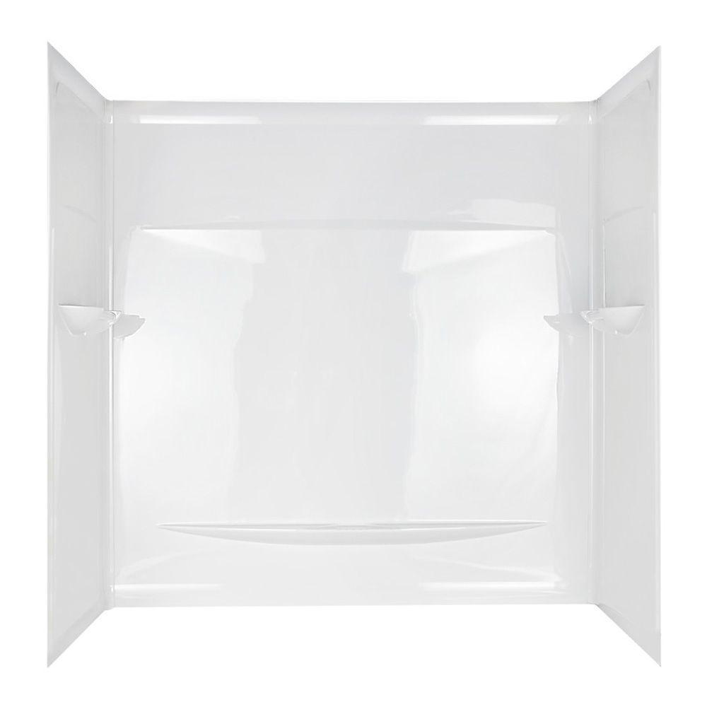 null Admiration Bathtub Wall Set in White