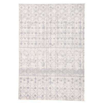 Geometric Trellis Bohemian Design 7 ft. 10 in. x 10 ft. Cream Area Rug