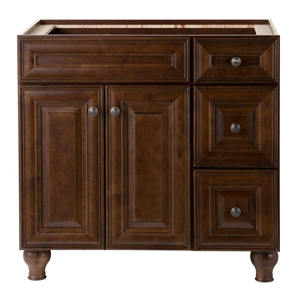 Templin 36 in. W Vanity Cabinet in Coffee