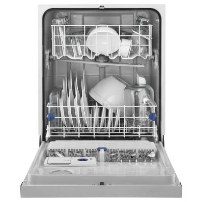 24 in. Monochromatic Stainless Steel Front Control Built-in Tall Tub Dishwasher with 1-Hour Wash Cycle, 55 dBA