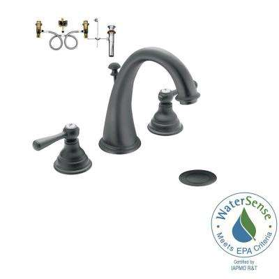 Kingsley 8 in  Widespread 2 Handle High Arc Bathroom Faucet Trim Kit in. MOEN   Widespread Bathroom Sink Faucets   Bathroom Sink Faucets