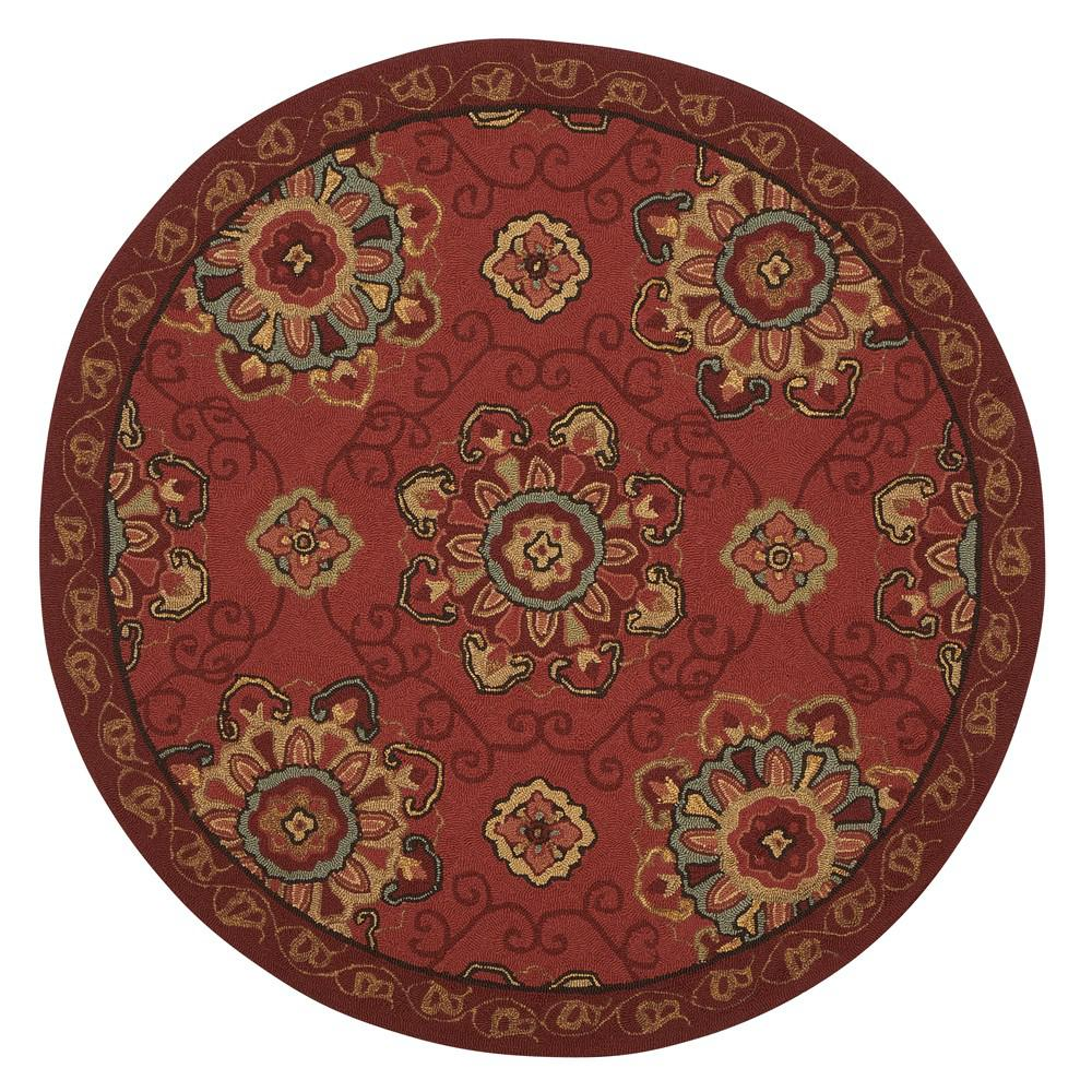 Home decorators collection bianca red 8 ft x 8 ft round for Home decorators indoor outdoor rugs