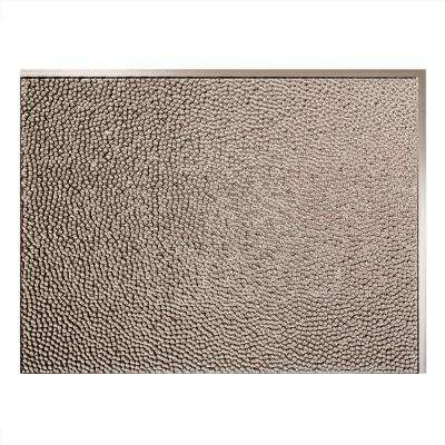 Hammered 18 in. x 24 in. Brushed Nickel Vinyl Decorative Wall Tile Backsplash 18 sq. ft. Kit