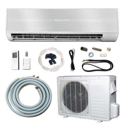9,000 BTU (3/4 Ton) Ductless Mini Split Air Conditioner with Heat Pump - 110V/60Hz