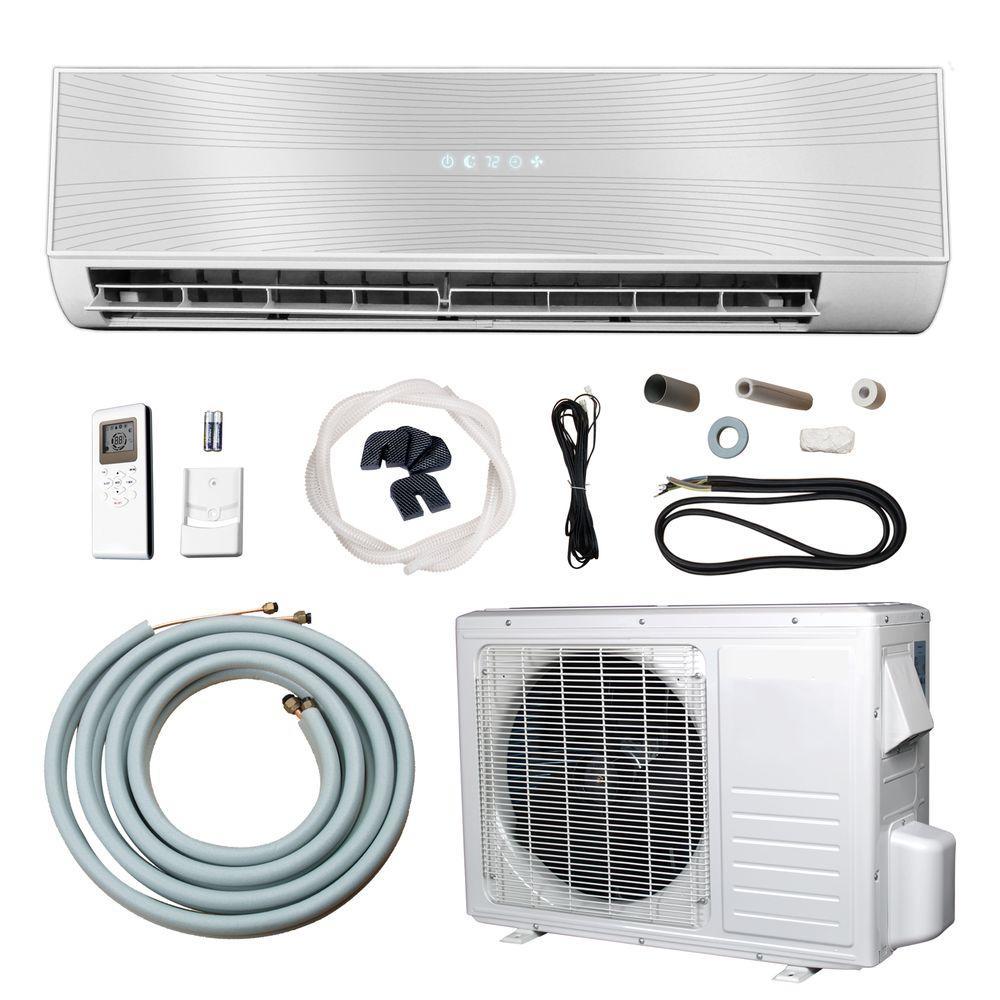 12,000 BTU 1+ Ton Ductless Mini Split Air Conditioner and Heat Pump - 110V/60Hz