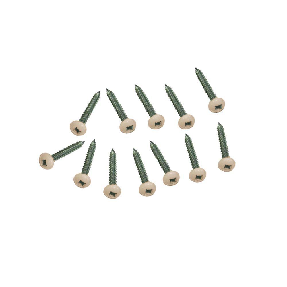 #10 1-1/2 in. Phillips Pan-Head Brownstone Plastic Lattice Screw (12-Pack)