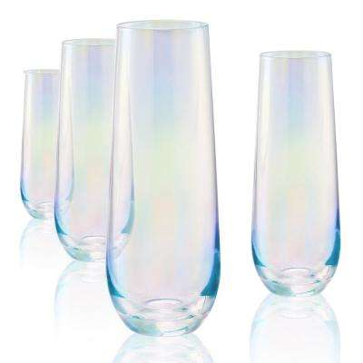 9 Oz. Clear Stemless Flute S/4