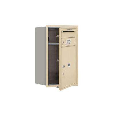 3700 Series 27 in. 7 Door High Unit Parcel Locker 1 PL5 4C USPS Front Loading Horizontal Mailbox in Sandstone