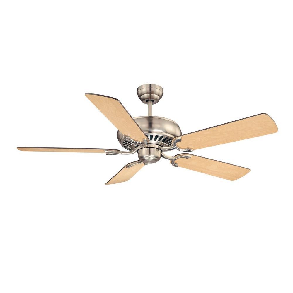 52 in. Satin Nickel Indoor Ceiling Fan