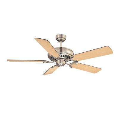 52 in. Satin Nickel Indoor Ceiling Fan