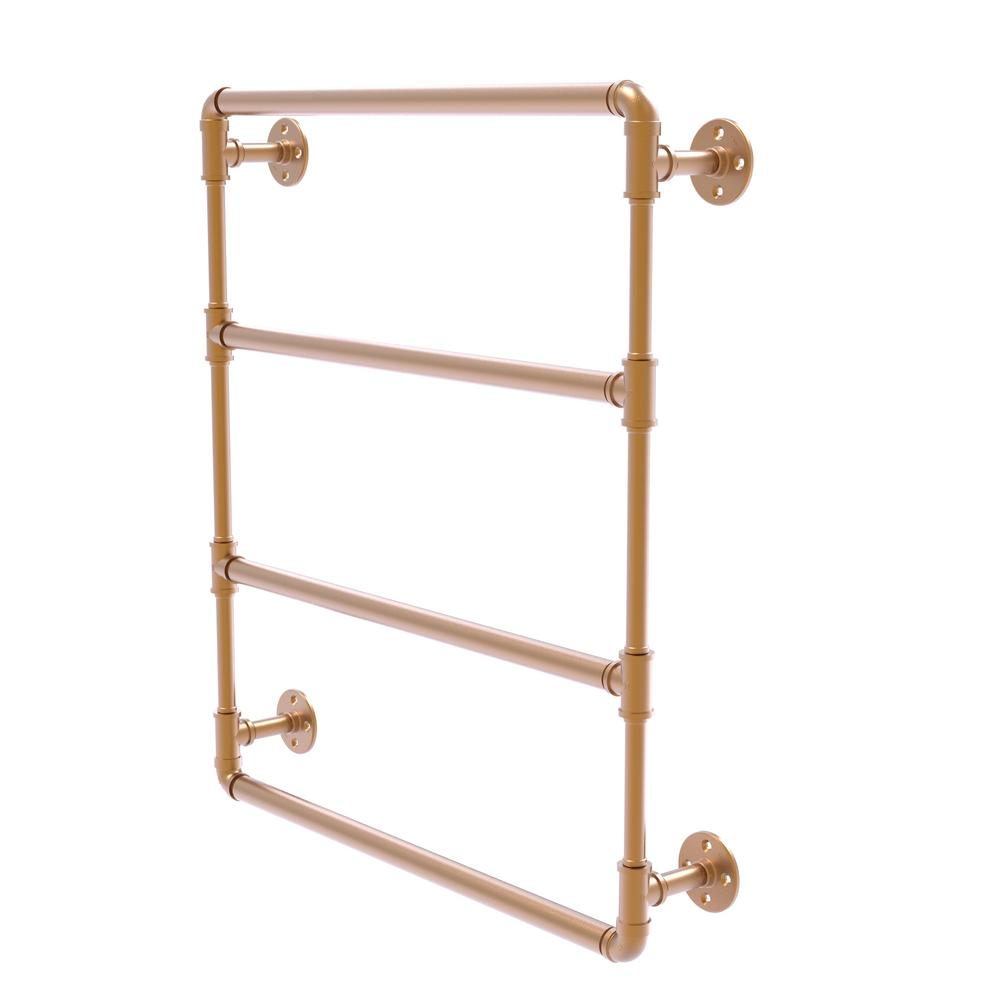 Pipeline Collection 30 in. Wall Mounted Ladder Towel Bar in Brushed