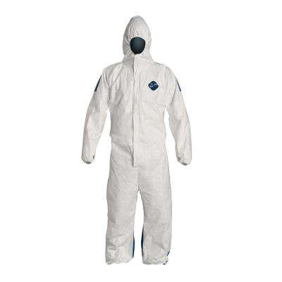 Dual 2X Large White Coverall with Hood