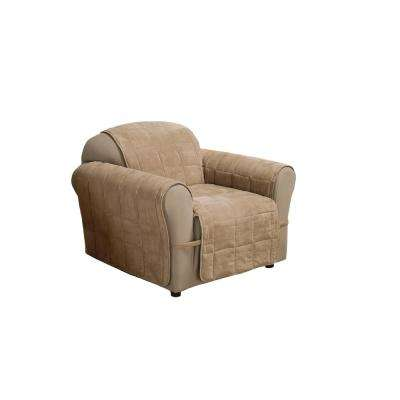 Natural Ultimate Faux Suede Chair Protector