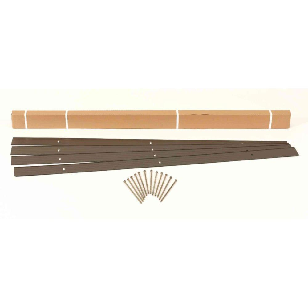24 ft. x 4 in. Bronze Aluminum Landscape Edging Project Kit