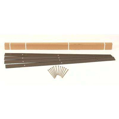24 ft. x 4 in. Bronze Aluminum Landscape Edging Project Kit (4 - 6 ft. pieces)