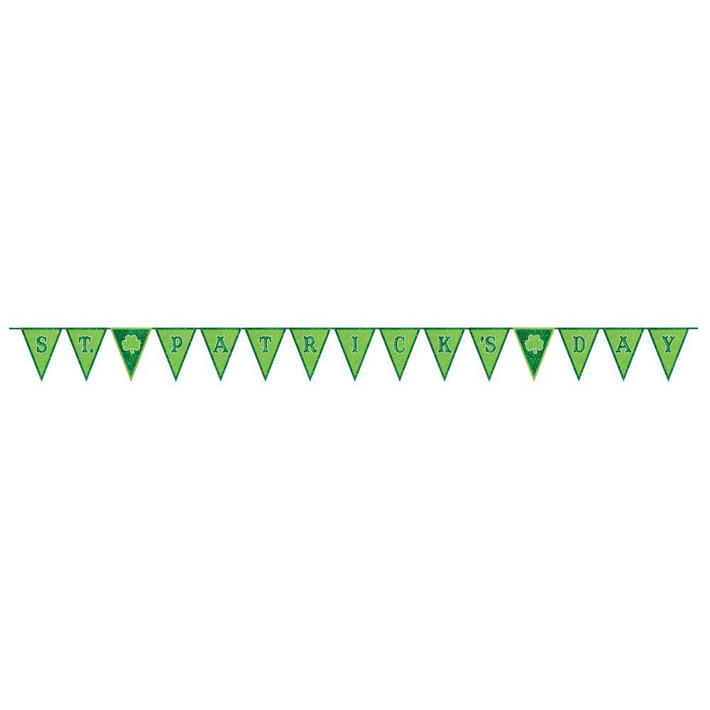 AMSCAN 11 in. x 10 ft. St. Patrick's Day Felt Pennant Banner