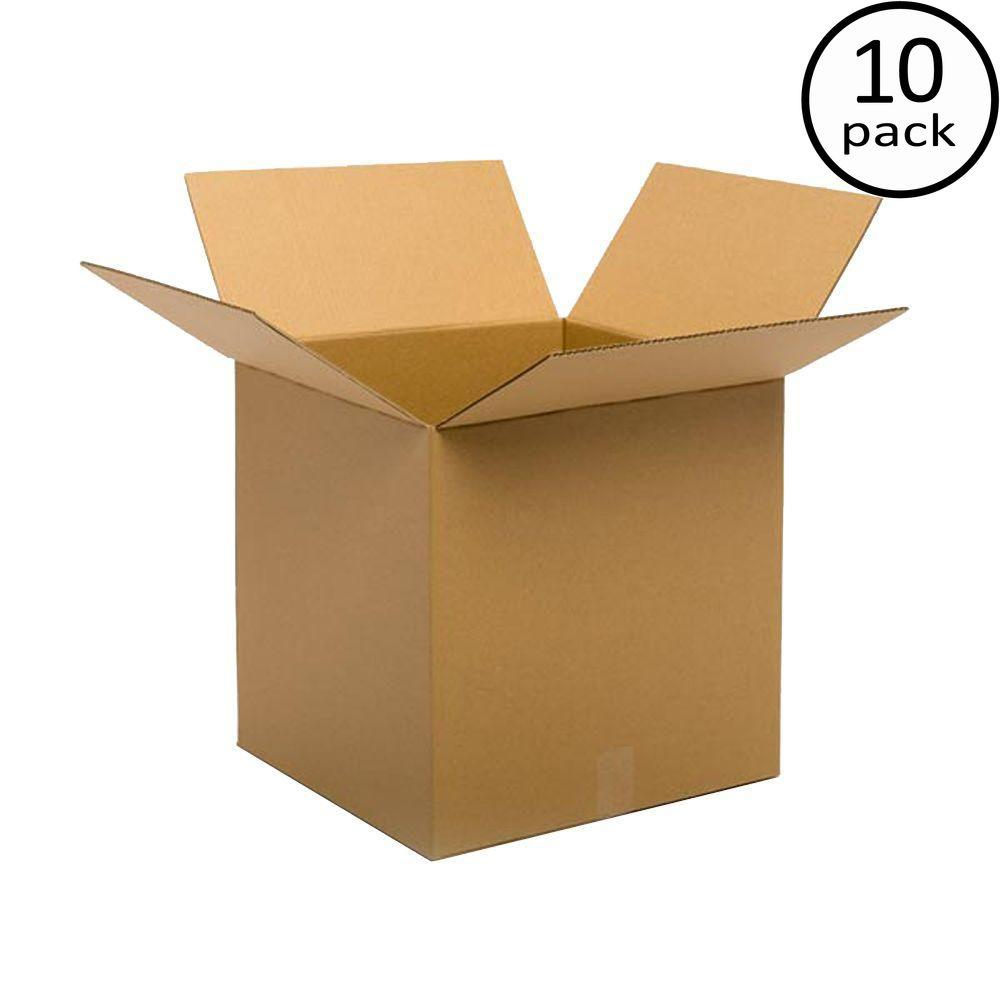 Plain Brown Box 24 in. x 24 in. x 24 in. 10 Moving Box Bundle