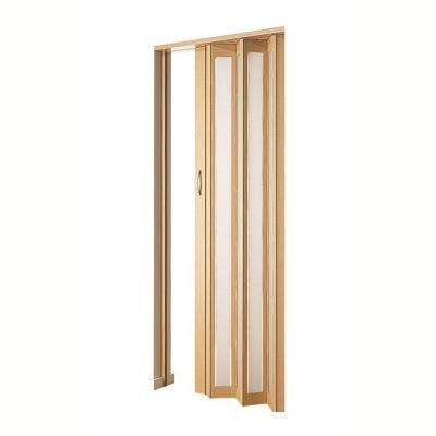 Century Aluminum Frosted Square Acrylic Accordion Door