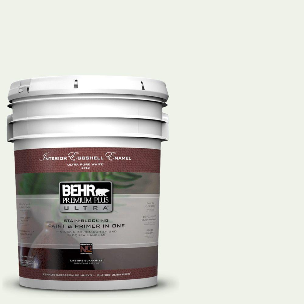 BEHR Premium Plus Ultra 5-gal. #M370-1 Fresh Dew Eggshell Enamel Interior Paint