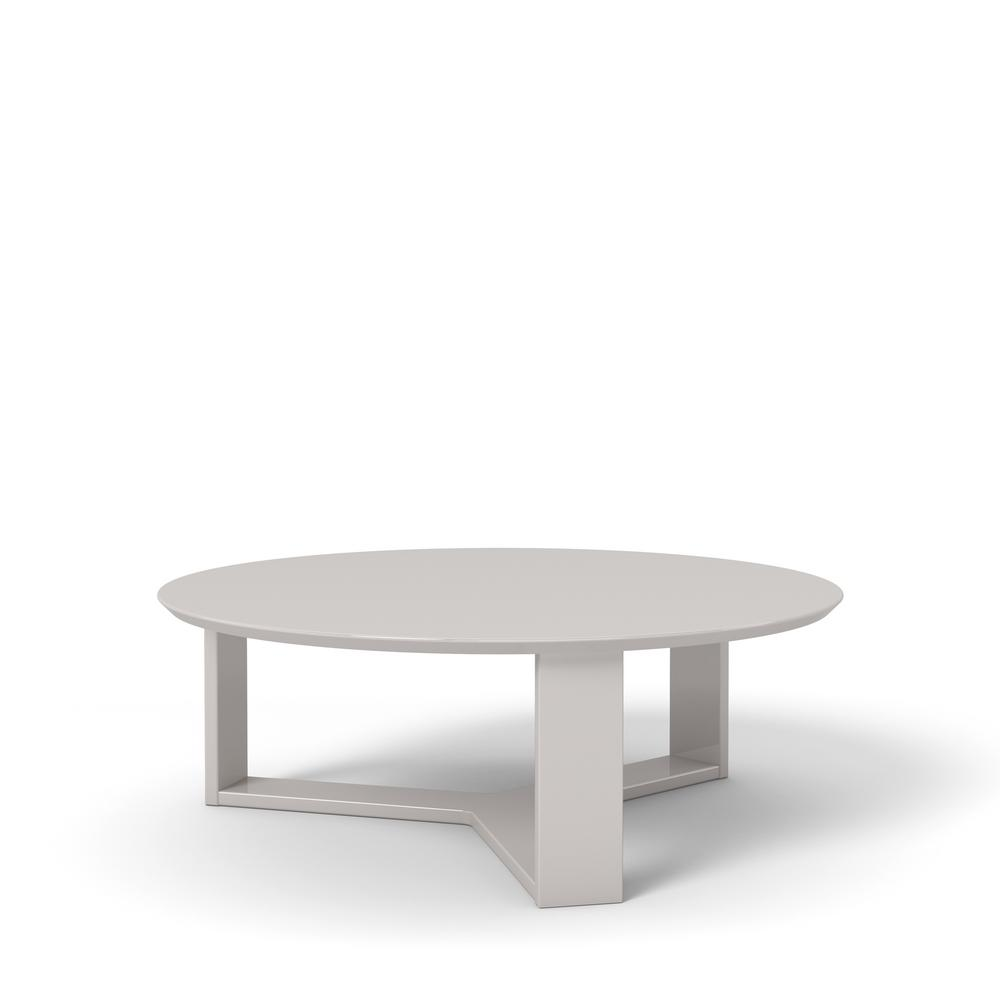 Manhattan Comfort Madison 1 0 35 78 In Off White Round Accent Coffee Table