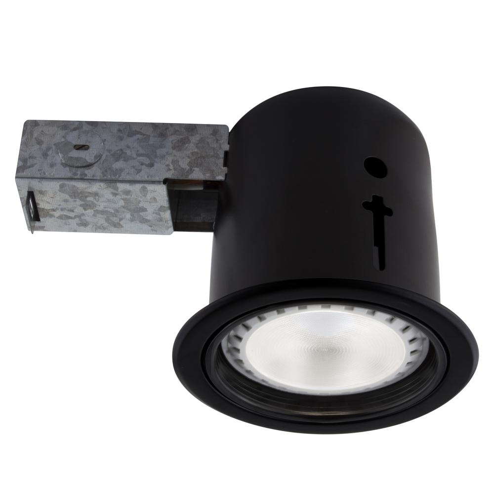 Bazz 5 In Black Recessed Led Lighting Kit With Par30 Bulb Included