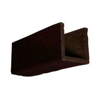 6 in. x 6 in. x 12 in. 3 Sided (U-Beam) Riverwood Espresso Endurathane Faux Wood Ceiling Beam Premium Sample