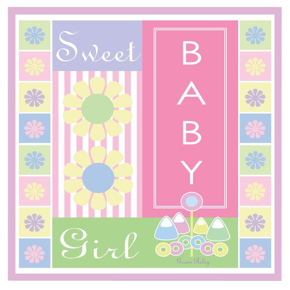 Trademark Fine Art 14 in. x 14 in. Sweet Baby Girl Canvas Art