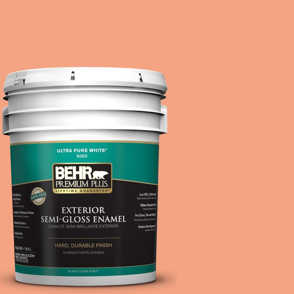 BEHR Premium Plus 5-gal. #P190-4 Siren Semi-Gloss Enamel Exterior Paint