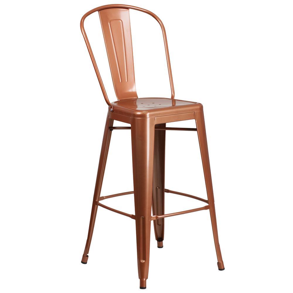 Flash Furniture 30 In Copper Bar Stool Et353430poc The Home Depot