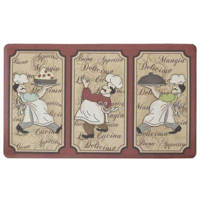 Chef of the Year 18 in. x 30 in. Comfort Kitchen Mat