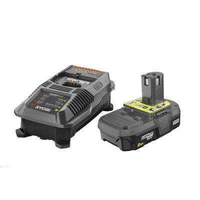 18-Volt ONE+ Lithium-Ion 2.0 Ah Battery and Dual Chemistry IntelliPort Charger Upgrade Kit