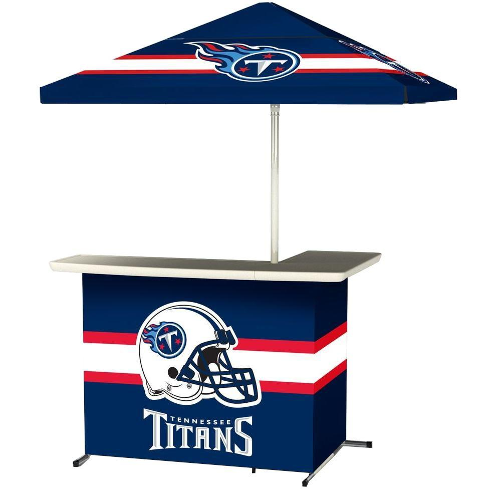Best of Times Tennessee Titans All-Weather L-Shaped Patio Bar with 6 ft. Umbrella