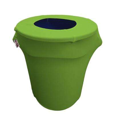 Stretch Spandex Trash Can Cover 32 Gal. Round in Lime