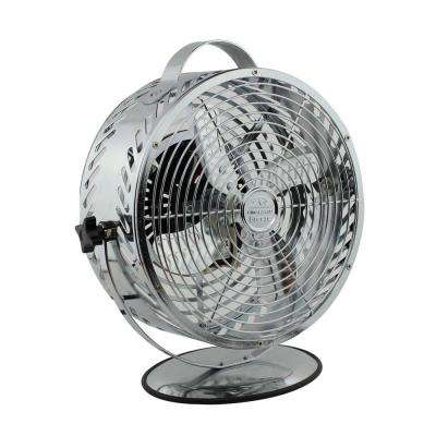 Breeze 8.6 in. Decorative Chrome Table Top Fan