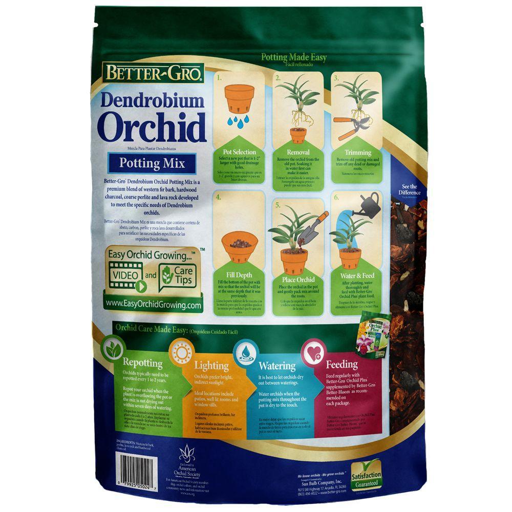 4-Quart Sun Bulb Better Gro Special Orchid Mix