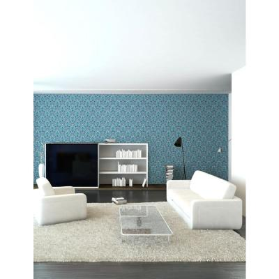 Nomad Collection Ottoman Small in Turquoise Removable and Repositionable Wallpaper