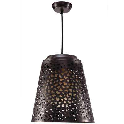 Tunis 1-Light Dark Gray Zinc Pendant