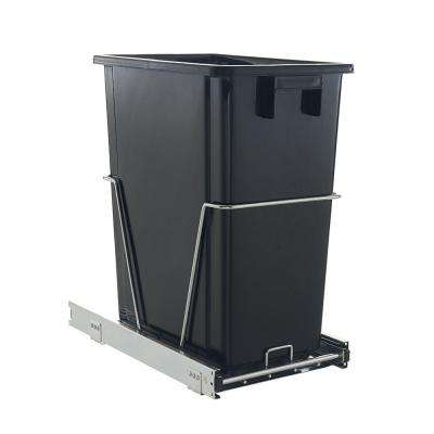 32 Qt. Black Pull Out Waste Can